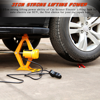 Portable 12V 3T Electric Car Jack Auto Lift Scissor Jack Cordless Electric Wrench Impact Socket Wrench Auto Tyre Change