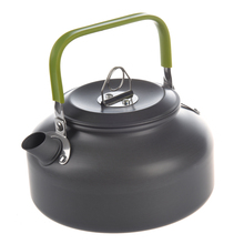 Купить с кэшбэком EAS-0.8L Portable Ultra-light Outdoor Hiking Camping Survival Water Kettle Teapot Coffee Pot Anodised Aluminum