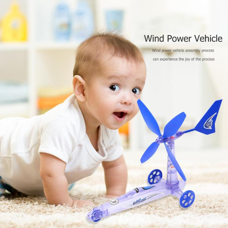 Creative Kids DIY Wind Power Car Toy Assembly Learning Education Toys Intelligent Vision Catch Training Toys Children Kids Gift