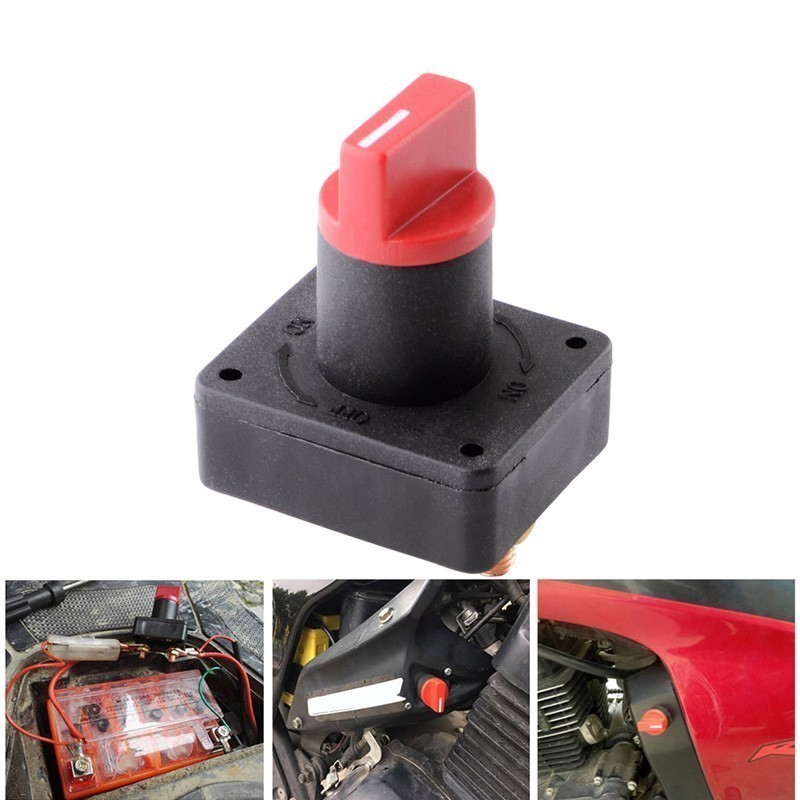 Car Master Battery Disconnect Rotary Cut Off Power Kill Switch Master Disconnect Rotary Cut Off Isolator Kill Switch 12V 100A