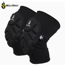 WOLFBIKE knee protective pads ski skateboard support volleyball football off-road bike sports Body guard Knee Protector