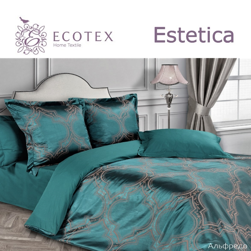 Bed linen set Alefredo collection Estetica, fabric of satin-jacquard, production of Ecotex, Russian companies.
