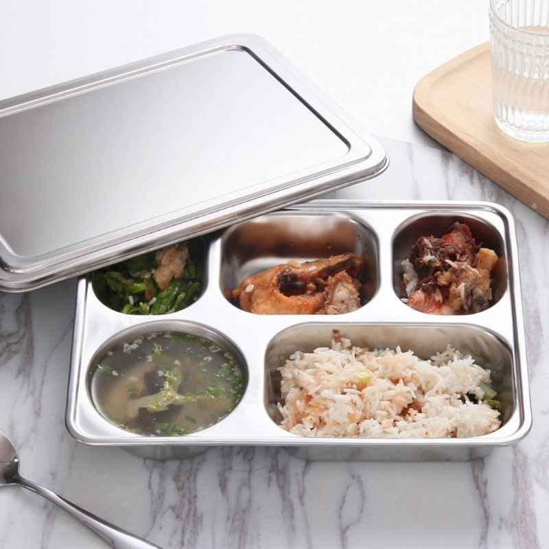 Detail Feedback Questions about Stainless Steel Lunchbox Divided