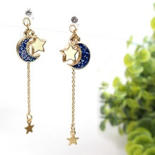 Anime Sailor Moon 25th Cosplay Earring Girl Blue Star Eardrop Accessories Prop