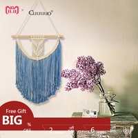 GUUUUO Macrame Wall Hanging Handmade Cotton Wall Hanging Tapestry Art Wedding Home Living Room Decoration Hot Sale Boho Style