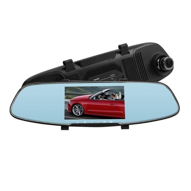 Anytek Видеорегистраторы для автомобилей укладки T60P 5,0 дюйма ips Двойной объектив Видеорегистраторы для автомобилей Камера видео Регистраторы
