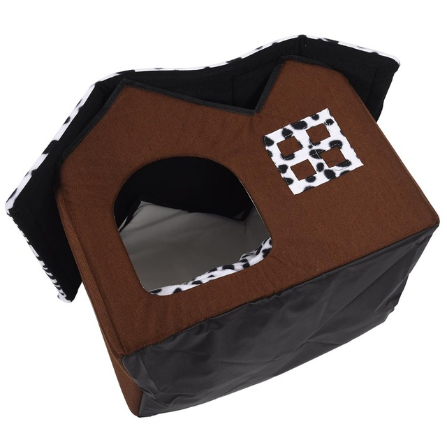 Hot Removable Dog Beds Double Pet House Brown Dog Room Cat Beds Dog Cushion Luxury Pet Products 55 x 40 x 42 cm 3