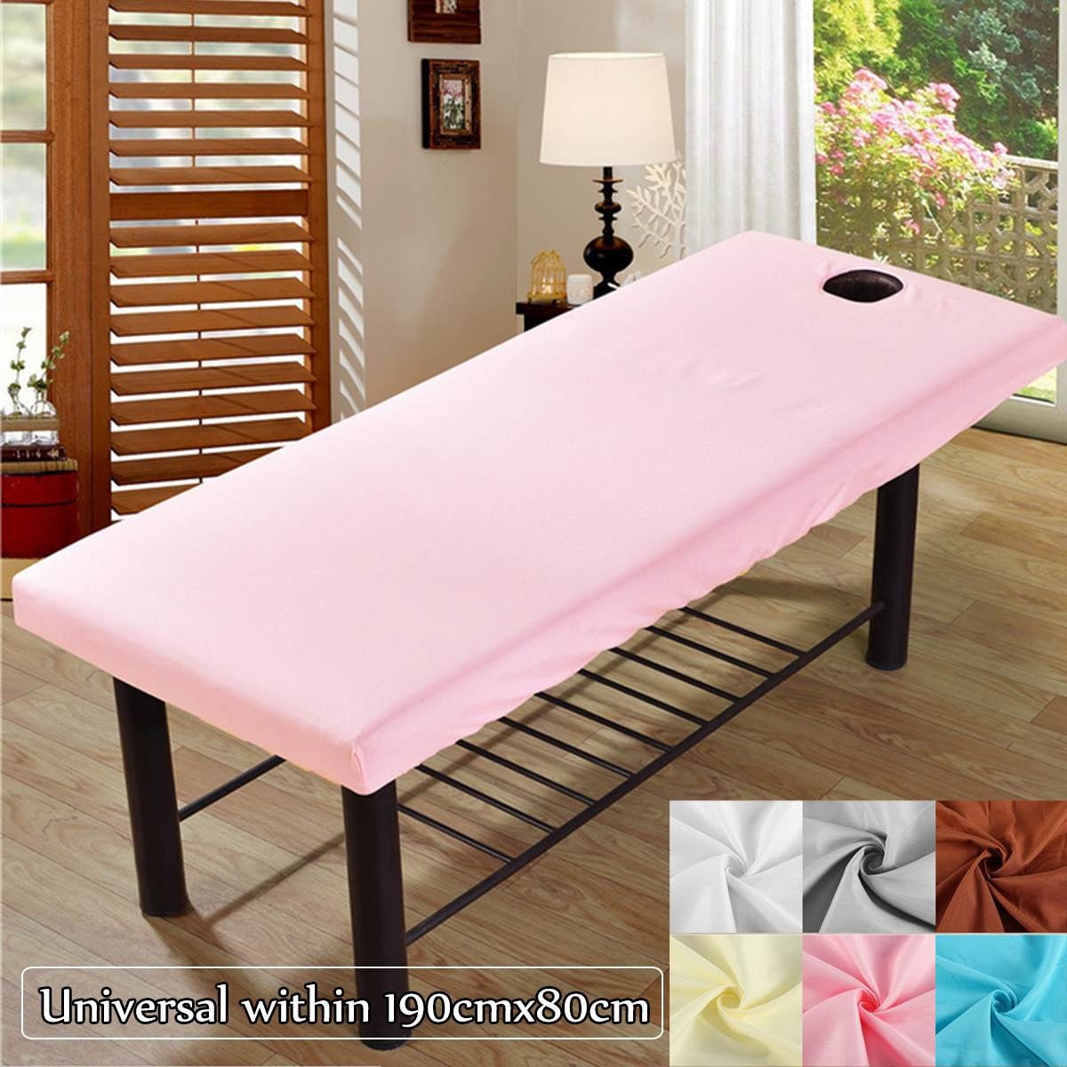 Soft Polyester Massage Bed Cover Beauty Salon Massage Sheet Body SPA Treatment Relaxation Bedsheet With Face Breath Hole 1