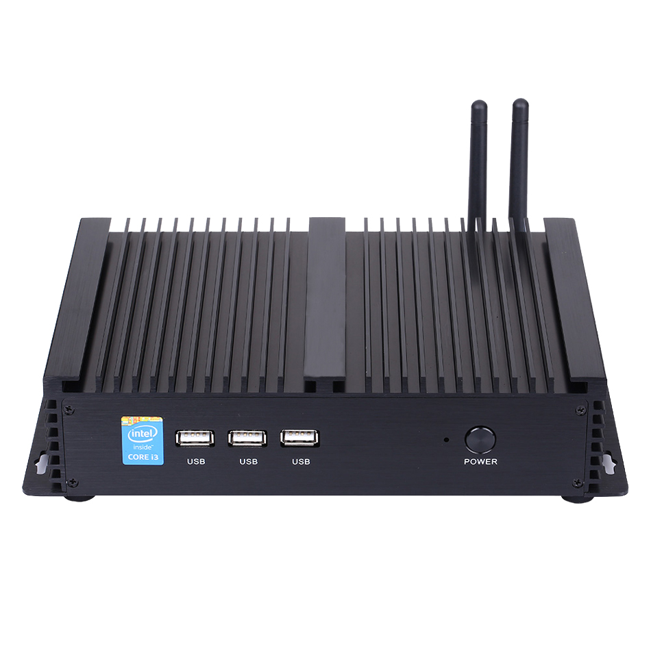 Fanless Industrial PC,Mini Computer,Windows 10,Intel Core I5 8250U,[HUNSN MA04I],(Dual WiFi/VGA/HD/3USB2.0/4USB3.0/LAN/2COM)