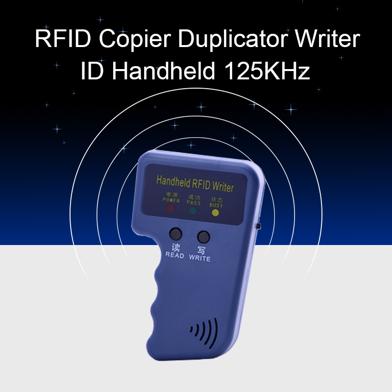 Handheld 125KHz RFID Copier Duplicator Key Door Writer Programmer Reader EM4305 T5577 Rewritable ID Keyfobs Tags ID Card Copier handheld 125khz rfid duplicator key copier reader writer id card cloner programmer 5 keys 5pcs rewritable cards em4305 t5577