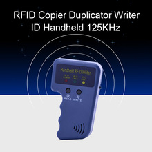 Handheld 125KHz RFID Copier Duplicator Key Door Writer Programmer Reader EM4305 T5577 Rewritable ID Keyfobs Tags ID Card Copier english rfid nfc copier reader writer duplicator 10 frequency programmer with color screen 5pcs t5577 em4305 cards 5pcs uid key