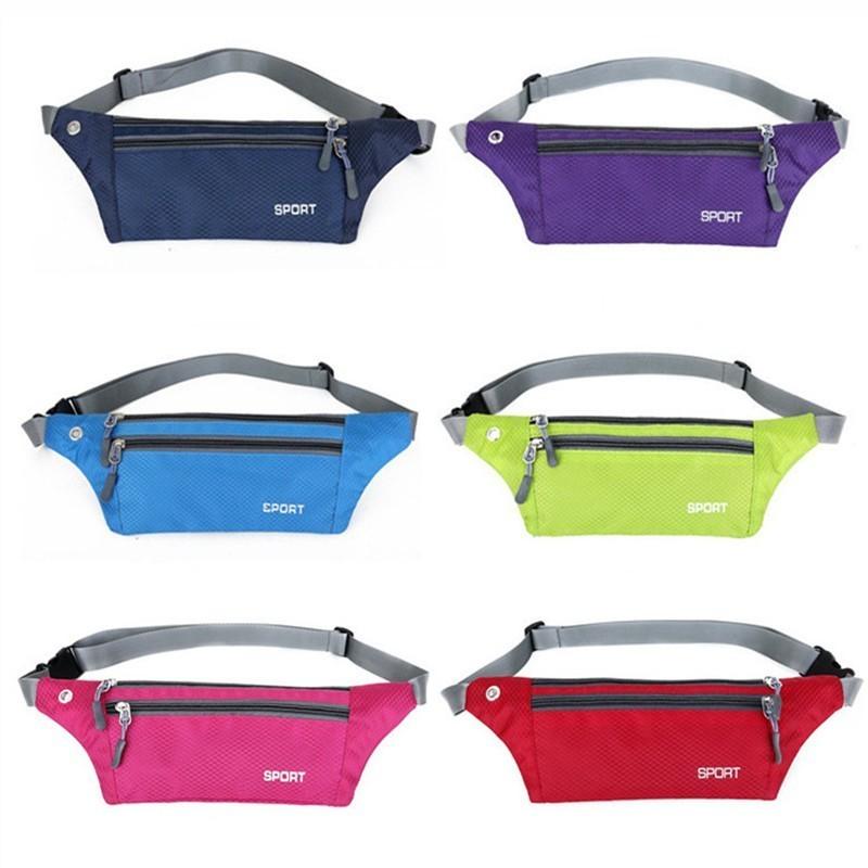 Waterproof Running Waist Bag Sport Pouch Bag Cycling Bag Belt Outdoor Mobile Phone Gym Fitness Sport Bag With Earphone Hole