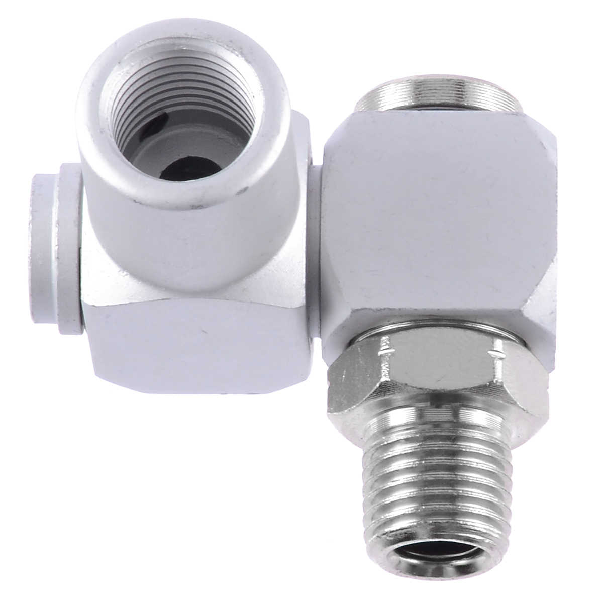2Pcs Air Hose Connector 1//4in Male Thread 360/° Rotating Japanese Quick Connect Air Hose Adapter Connector Kits