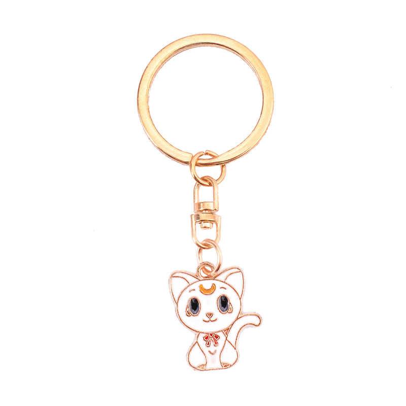 Anime Chaveiro Llaveros Chaveiro Charme Saco Anel Chave Titular Porte Ponto Marvel Clave Llavero Chaveiro Olá Kitty Cat SL101
