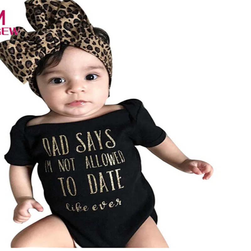 2019 Cute Baby Girls Clothes Set Newborn Infant Letter ...