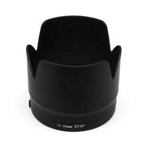 Image 5 - 캐논 ef 70 200mm f/2.8l is iii usm 스냅 온 브래킷을위한 ET 87 렌즈 후드는 블랙 화이트에 설치할 수 있습니다