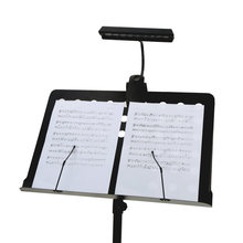 New Portable Bright Clamp LED Desk Lamp Flexible Bendable 9 LEDs Orchestra Piano Music Score Light Stand Clip Desk Reading Lamp(China)