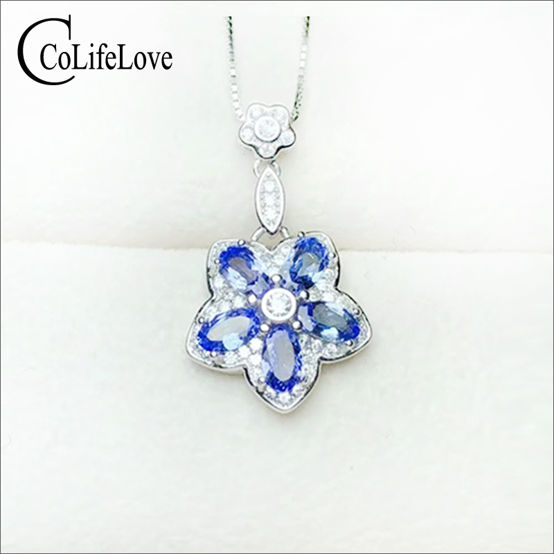 Fashion silver tanzanite pendant for little girl 5 pcs natural tanzanite gemstone pendant 925 silver tanzanite jewelryFashion silver tanzanite pendant for little girl 5 pcs natural tanzanite gemstone pendant 925 silver tanzanite jewelry
