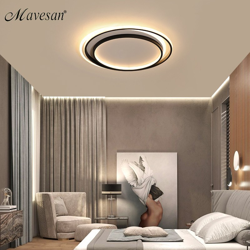 Modern Acrylic ceiling lights for bedroom support 110V and 220V Remote control led surface mount lamps lamparas de techo 48W 58WModern Acrylic ceiling lights for bedroom support 110V and 220V Remote control led surface mount lamps lamparas de techo 48W 58W