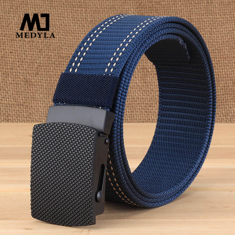 MEDYLA 2019 Men's   Belt   Casual Non-porous   Belt   for Men Luxury Brand Zinc Alloy Buckle   Belt   Male Jeans Casual Pants Dropship