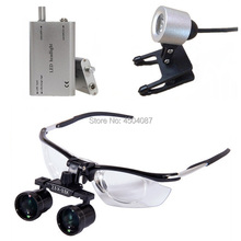 Medical Loupes 2.5-3.5X Zoom Binocular Magnifier Dental Surgical Loupe+3W LED Headlight Headlamp
