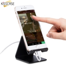 KISSCASE Aluminium Alloy Desk Universal Phone Holder Stand For iPhone Samsung Travel Portable Fashion Stands