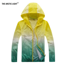 THE ARCTIC LIGHT Summer Sunscreen Hiking Jacket Trekking Fish Women Windbreaker Waterproof Thin Hooded Zipper Quick Drying Coat