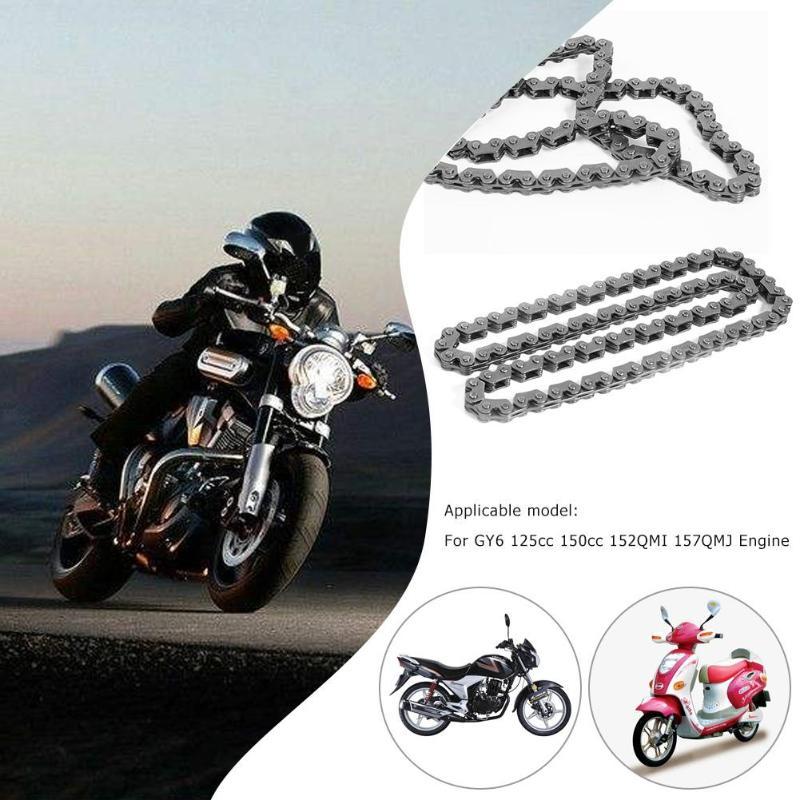VODOOL 90 звеньев цепи привода ГРМ для GY6 125cc 150cc 152QMI 157QMJ двигателя скутеры мопеды высокой проходимости Go Kart квадроциклы
