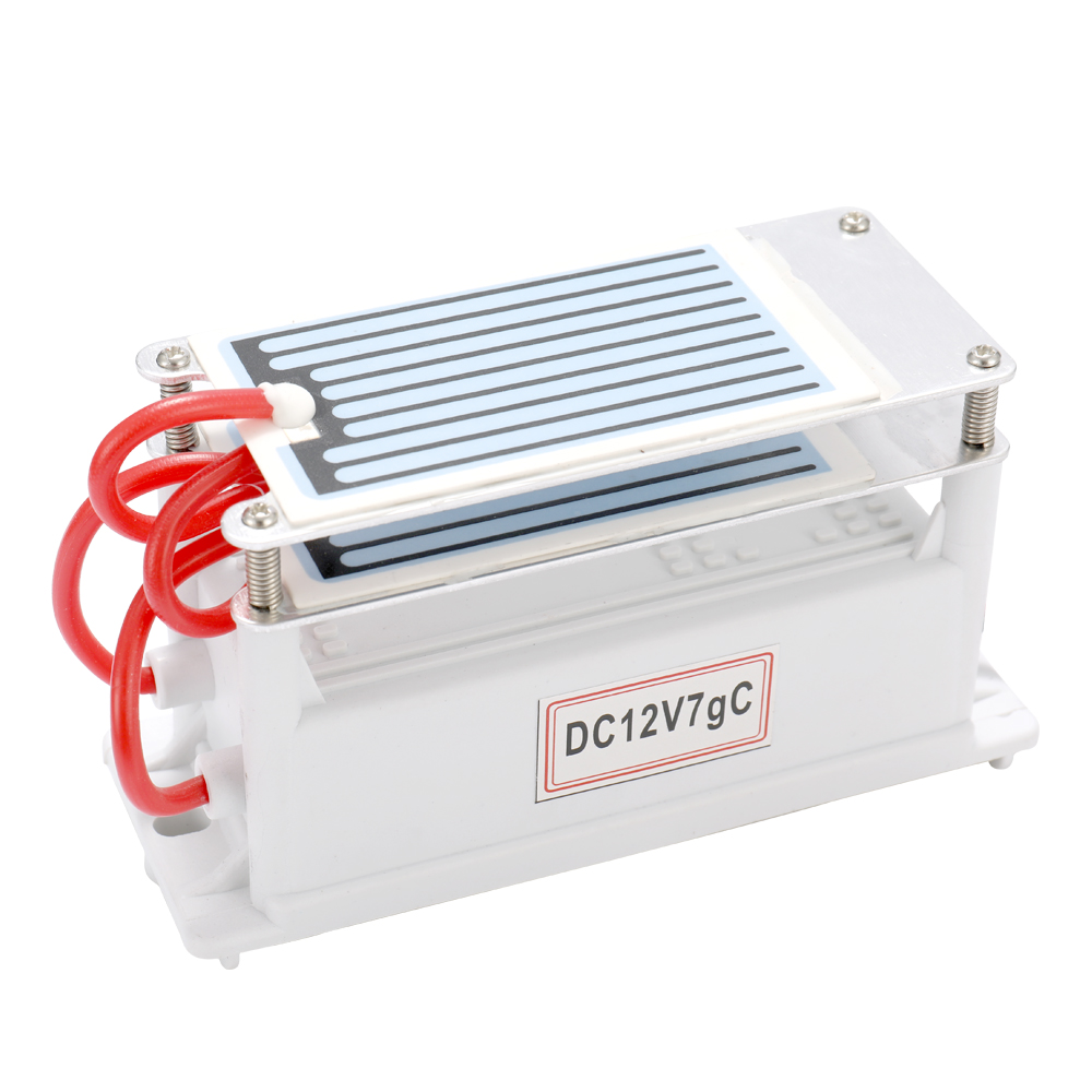 Portable DC 12V/ 7g/h Ceramic Ozone Generator Double Integrated Plate Ozonizer Water Air Purifier For Chemical Factory