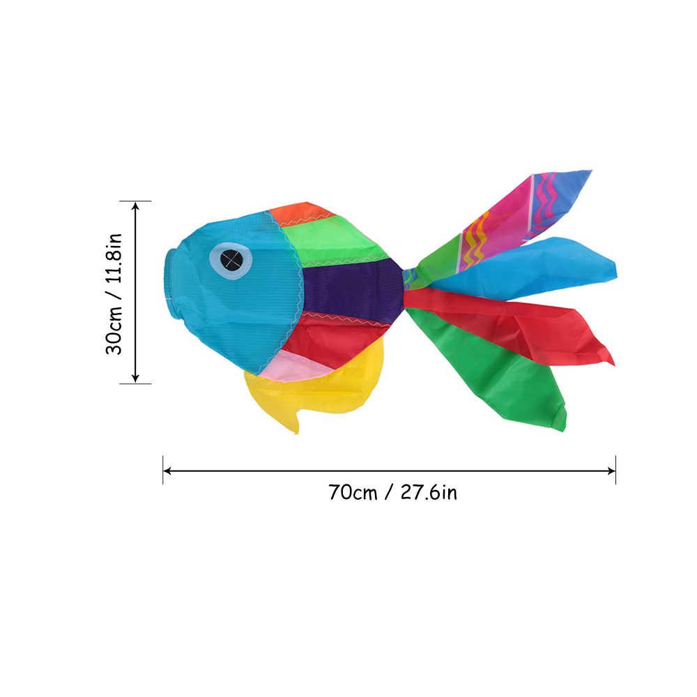 70 см многоцветный 3D Змеи милый рыбий хвост воздушный змей Ripstop Sail аксессуар для воздушного змея Спорт на открытом воздухе пляжный змей для детей и взрослых