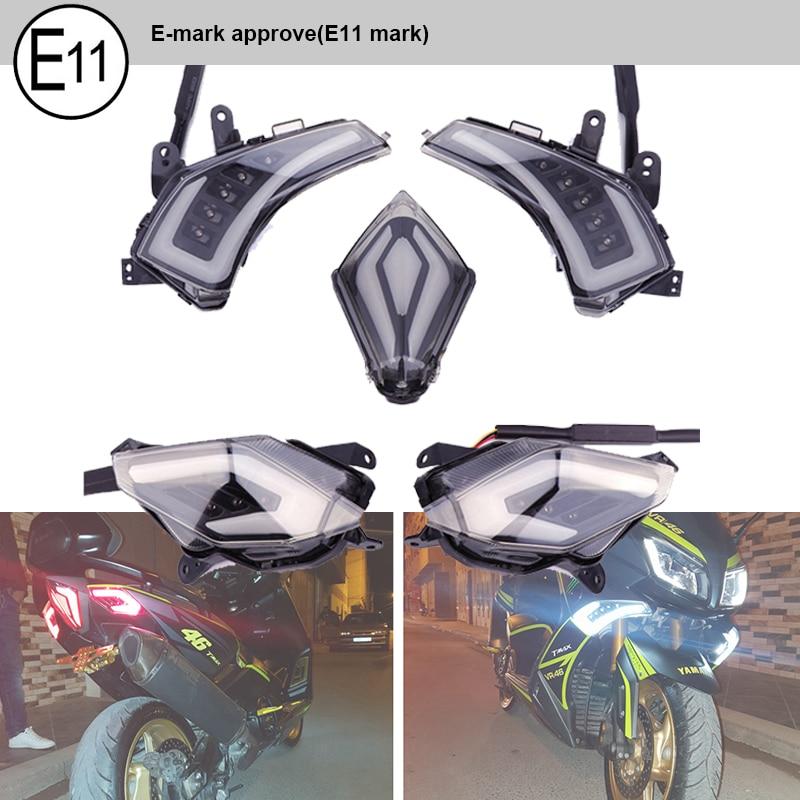 Rear LED Brake Lamp Tail Light Turn Signals For Kawasaki Ninja 650R 2012-2014