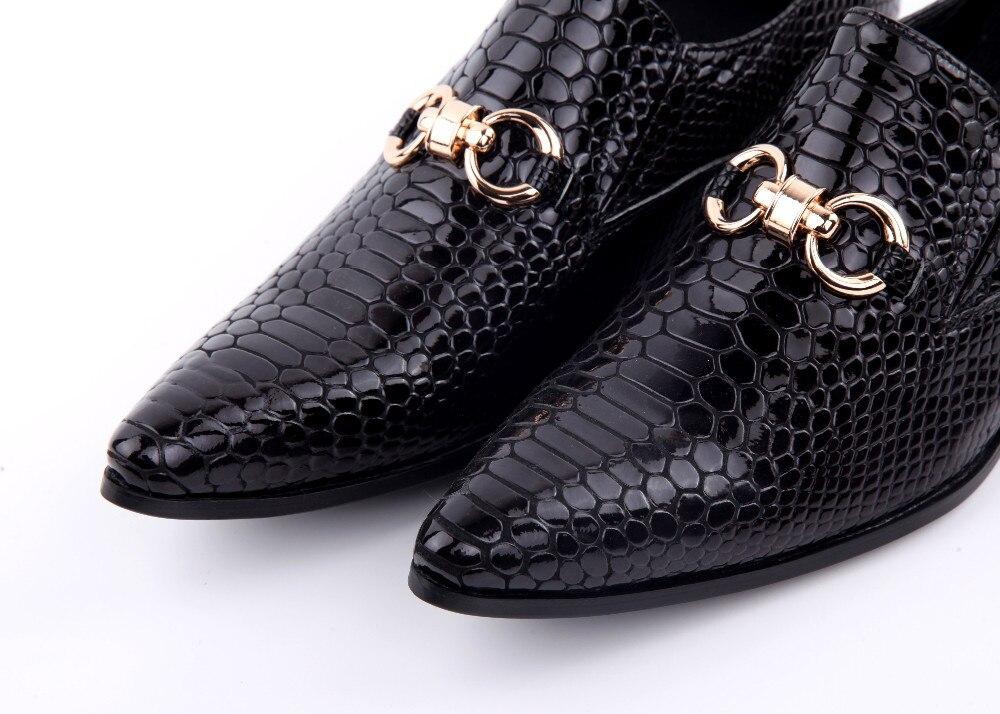 De Dos Couro 46 Em Us5 Italiano Size Sapatos Shoe Genuíno Cobra Flats Casamento 12 Vestem Deslizamento Se Homens Tamanho Pele 8qdw1B8S