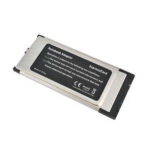 Image 2 - Kebidumei PCI Express ל usb 3.0 הכפול 2 יציאות PCI E כרטיס מתאם עבור NEC שבבים 34 MM חריץ ExpressCard ממיר 5 Gbps עבור מחשב