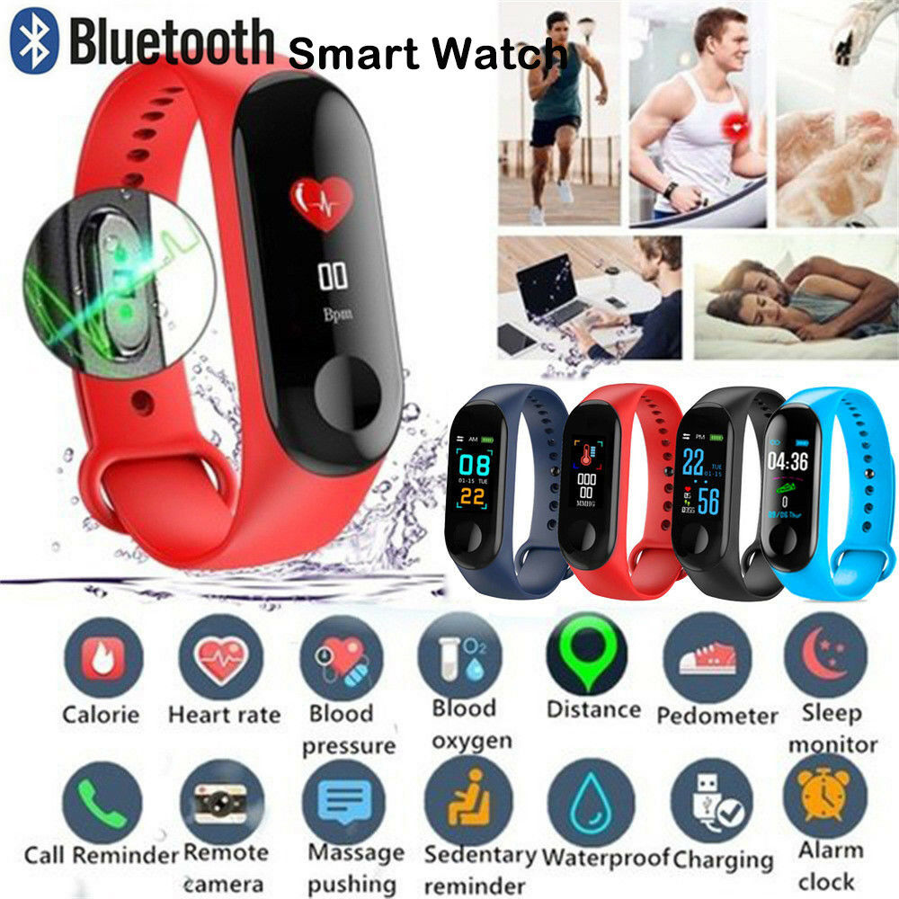 Latest M3X Smart Watch Heart Rate Blood Pressure Monitor Sports Tracker Bracelet