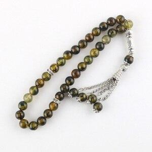 Image 4 - Original 33 Beads 8mm Natural Stone Muslim Rosary Islam Tasby Allah Prayer Rosary Tesbih Islamic Bracelet