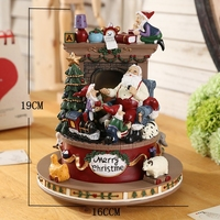 Musical Box Caja Musica Box Music Hand Free Shipping Santa Claus Christmas Gift Birthday Girl Girlfriends Children Small Gifts