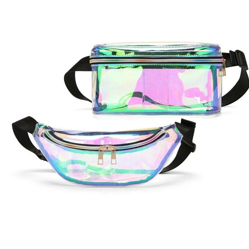 2019 Frauen Transparente Handtasche Laser Pvc Klar Kleine Taille Reisetasche Tasche Farben Für Frauen Mode Telefon Gürtel Tasche Bauch Hüfte Mit Dem Besten Service