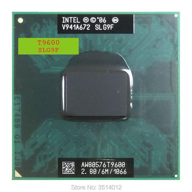 인텔 코어 2 듀오 t9600 slg9f slb47 2.8 ghz 듀얼 코어 듀얼 스레드 cpu 프로세서 6 m 35 w 소켓 p