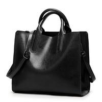 Genuine Leather Bags Women Women Shoulder Bags Fashion Women Handbags Oil Wax Leather Large Capacity Tote Bag Casual 2019 C836