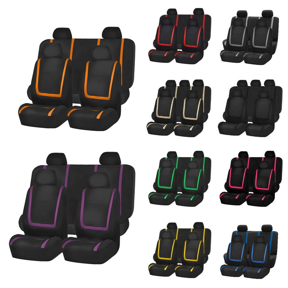 Full Set High Back-Water Resistant FH Group FB113GRAY114 Gray Rugged Oxford Waterproof Car Seat Covers