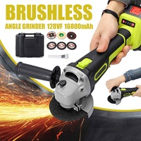 1200W 8000RPM Electric Angle Grinder Cordless Polisher Cutting Power Tool 8mm Chuck Rechargeable 16800mAh Li ion Battery Charger