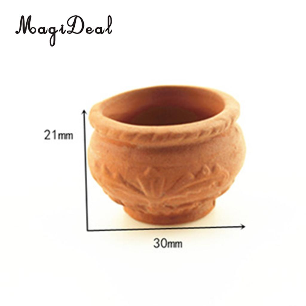 DIY Doll House Miniatures 1:12 Accessories Mini Flower Pot Fairy Garden Decoration
