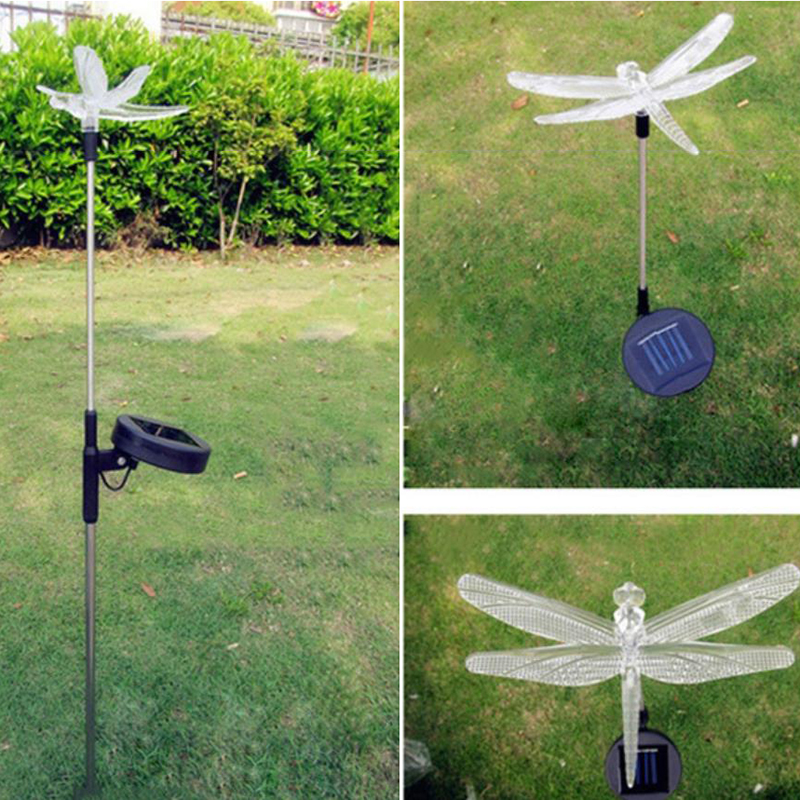 Garden Solar Lamp Rgb Color Chang Outdoor Lawn Night Decorative Lamps Led Solar Powered Lights Optical Fiber
