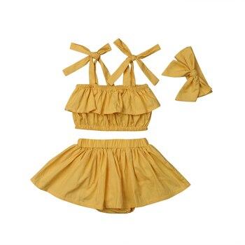 cbc9bf206 Conjuntos de ropa para niñas recién nacidas sin mangas Tops chaleco ...