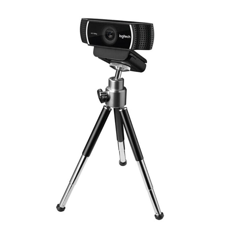 Logitech Black C922 Pro Webcam 1080P 30FPS Stereo Full HD Anchor Glass Camera with Tripod For