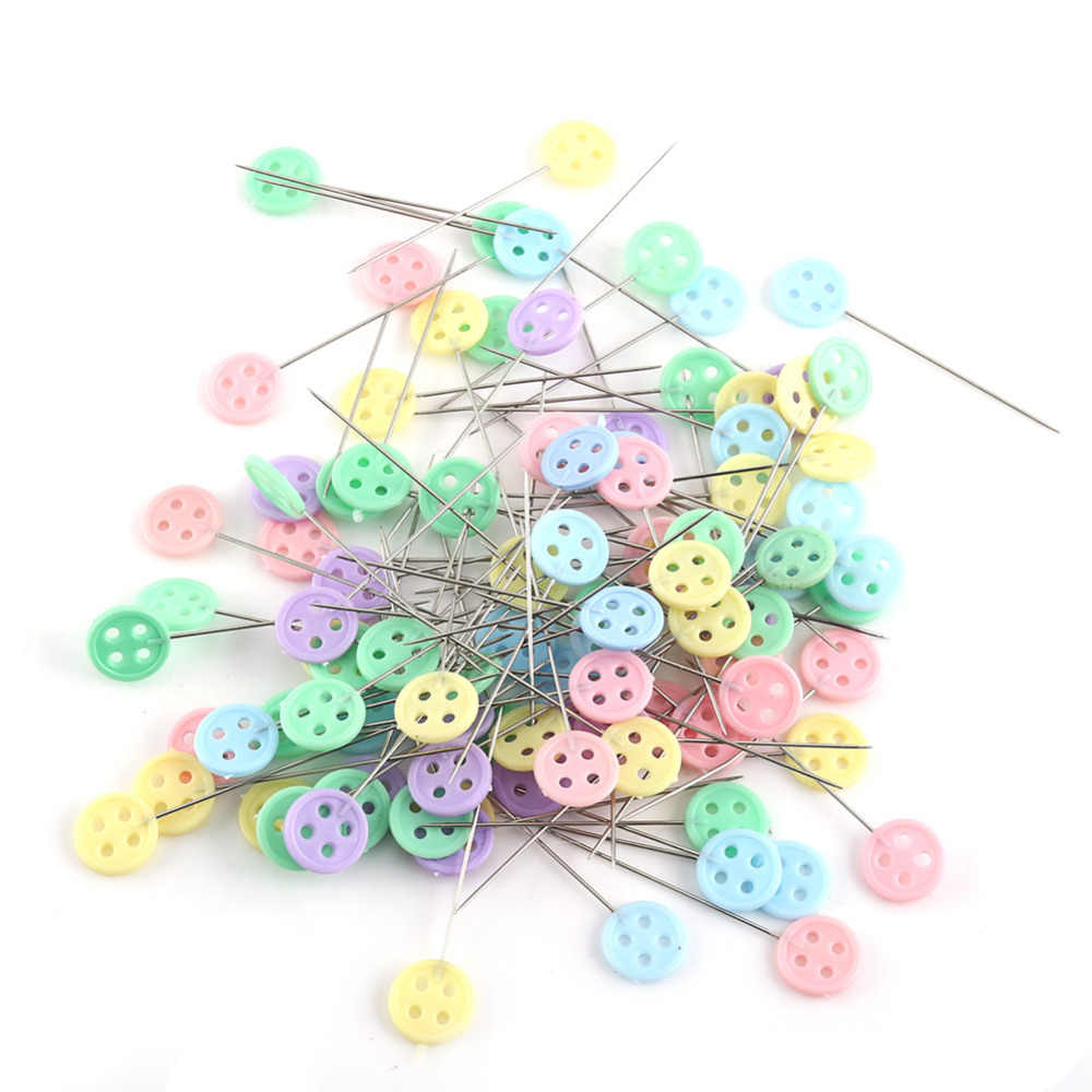 4 Style 100pcs Diy Sewing Patchwork Pins Quilting Tool Plastic Stainless Steel Tools Sets Home Accessories Supplies