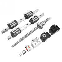 2 шт HGR15 500mm линейной направляющей и 1 pc RM1605 500mm Ballscrew и BF12/BK12 линейный рельс комплект ЧПУ части