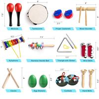 Musical Instruments for Toddler with Carry Bag,12 in 1 Music Percussion Toy Set for Kids with Xylophone,Rhythm Band,Tambourine
