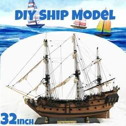 DIY Handgemaakte Montage Schip 32 Schaal Houten Zeilboot Model Kit Schip Handgemaakte Montage Decoratie Cadeau Voor Kinderen Jongen