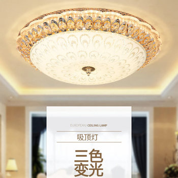 European Crystal Ceiling Lamp LED Ceiling Lights for Round Porch Lamp Bedroom Lighting  Led Lamparas De Techo